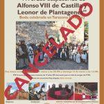 ANULACIÓN Recreación histórica en Tarazona con motivo del 850 aniversario de los desposorios reales de Alfonso VIII de Castilla y Leonor de Plantagenet